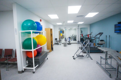 alternative view of our exercise room at our Wynford location showing the full size of the space
